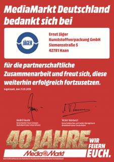 Hervorragende Partnerschaft mit Media Markt Deutschland