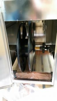 Halbautomatische Umreifungsmaschine 835 0010 in EDELSTAHL-Ausführung